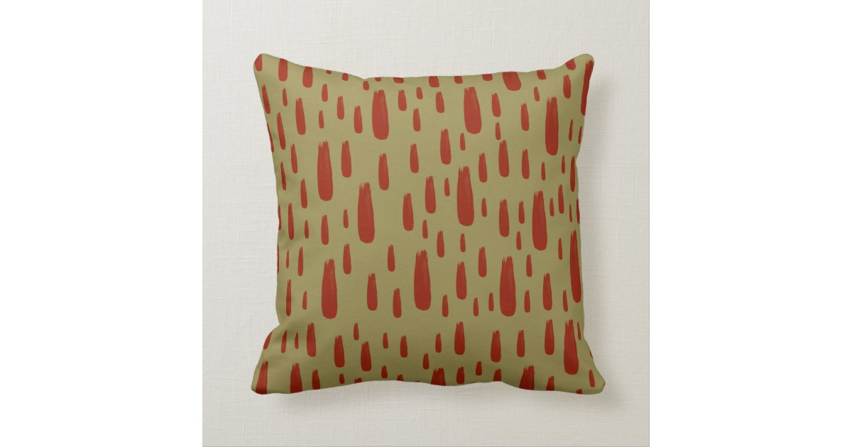 Decorative Pillows With Red In Them : Throw Pillow in khaki and red Zazzle