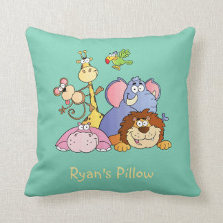 Throw Pillow--Jungle Animals Pillow