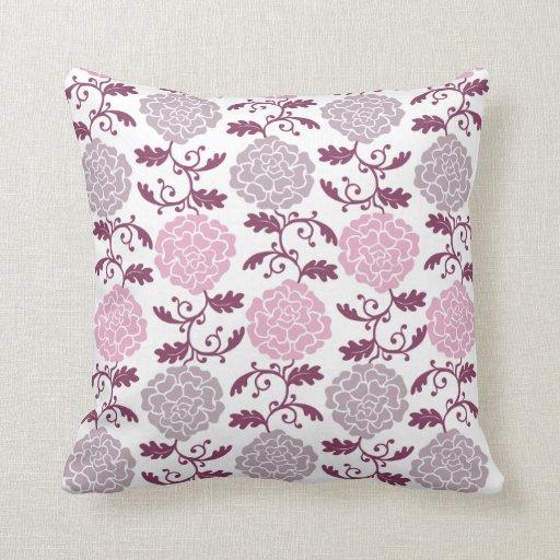 Throw Pillow - Modern Regal Rose in Pink & Gray