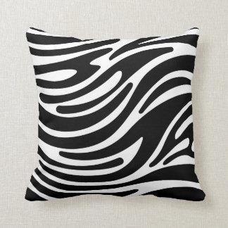 Throw Pillow - Modern Zebra Stripes (Black & White