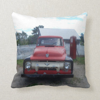 Throw Pillow Old Truck Hit The Road