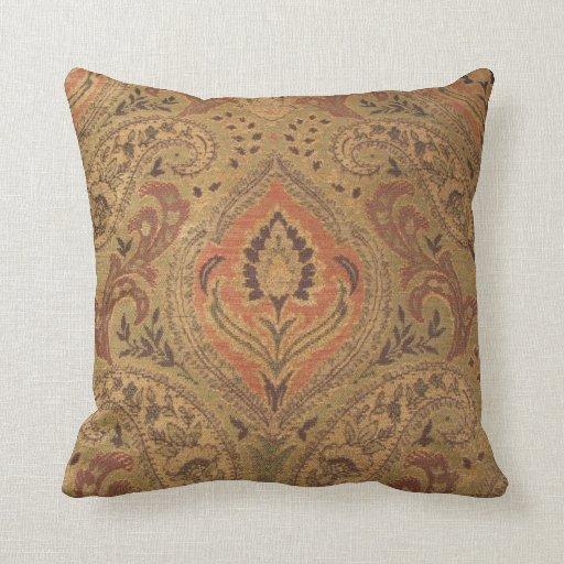 Throw Pillow--Orange Fabric