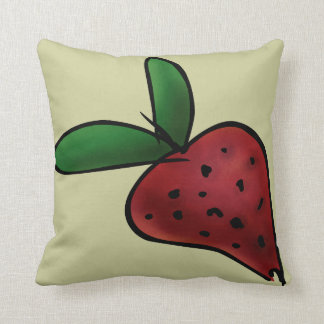 Throw Pillow, Painted Strawberry Throw Pillow