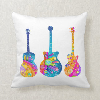 THROW PILLOW - POP ART GUITARS