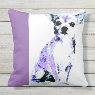 Throw Pillow Purple Chihuahua (of 4 colors)