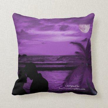 Beach Themed Throw Pillow - Purple Haze
