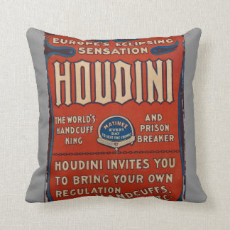 Throw Pillow Reproduction Vintage Houdini Poster