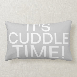 Throw Pillow Says It's Cuddle Time