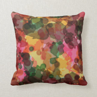 Throw Pillow, Spring Flowers Watercolor Throw Pillow