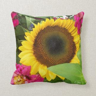 Throw Pillow: Sunflower