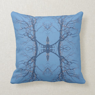 Throw pillow tree with deer spirit