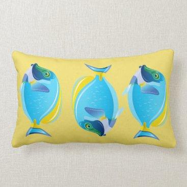 Beach Themed Throw Pillow-Tropical Fish Lumbar Pillow