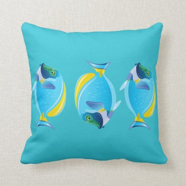 Beach Themed Throw Pillow-Tropical Fish Throw Pillow