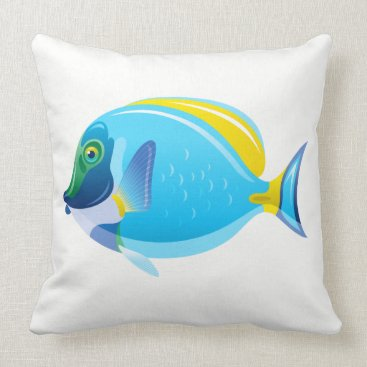 Beach Themed Throw Pillow-Tropical Fish Throw Pillow