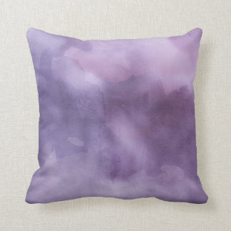Throw Pillow - Watercolor Purples