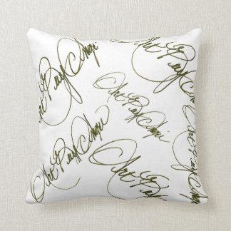 THROW PILLOW (white signature) by ArtBuyAngie™