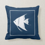 Throw pillow with angel fish