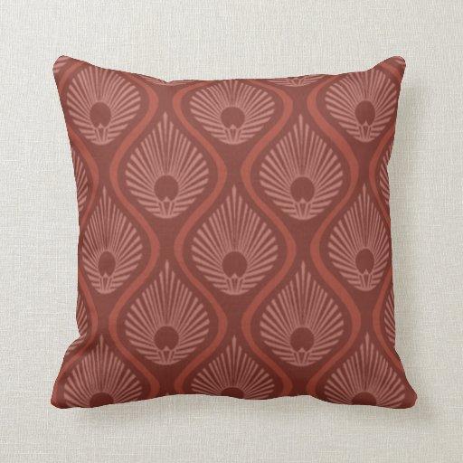 Throw pillow with art deco peacock design Zazzle