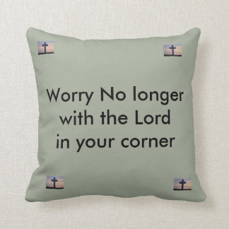 Throw Pillow with encouraging saying