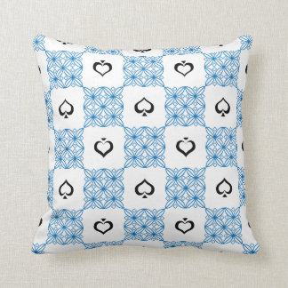 Throw Pillow with FreeHand Design B/W Spades