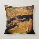 Throw pillow with Grand Canyon details