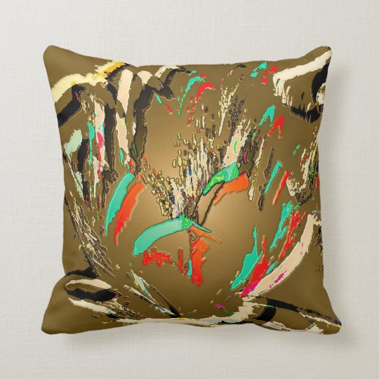 Throw Pillow with Lotus flower design
