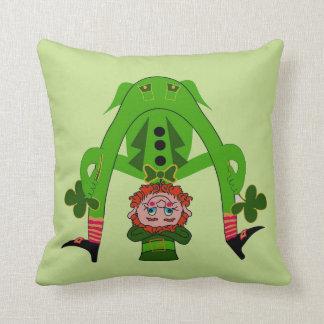 Throw Pillow with Lucky Leprechaun