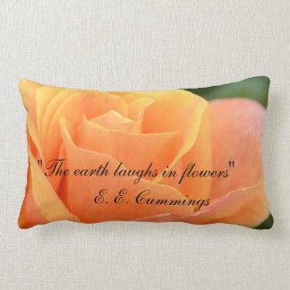Throw Pillow with Rose Design