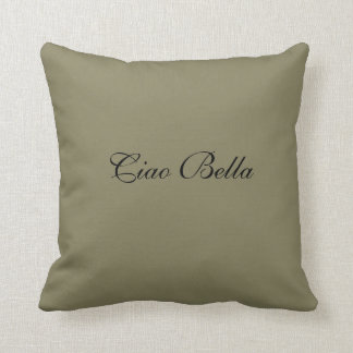 Throw pillow with script writing