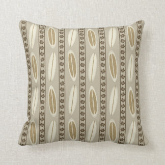 Throw pillow with surfboards