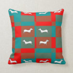Throw Pillow with Unique Dachsund Design