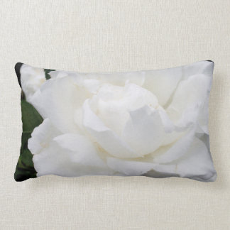 Throw Pillow with White Rose