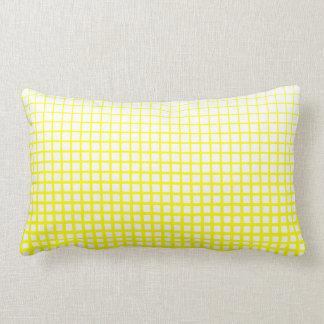 Throw Pillow, Yellow and White Net Design Pillow