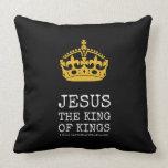 [Crown]  jesus  the king  of kings   [Crown]  jesus  the king  of kings  Throw Pillows