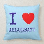 i [Love heart]  ahlulbayt i [Love heart]  ahlulbayt Throw Pillows