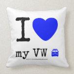 i [Love heart]  my vw [Campervan]  i [Love heart]  my vw [Campervan]  Throw Pillows