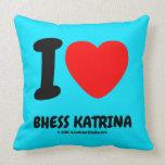 i [Love heart]  bhess katrina i [Love heart]  bhess katrina Throw Pillows