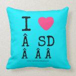 i [Love heart]   sd    i [Love heart]   sd    Throw Pillows