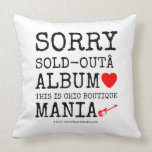 sorry sold-out album [Love heart]  this is chic boutique mania [Electric guitar]   sorry sold-out album [Love heart]  this is chic boutique mania [Electric guitar]   Throw Pillows