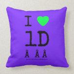 i [Love heart]  1d    i [Love heart]  1d    Throw Pillows