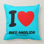 i [Love heart]  bhess angelica! i [Love heart]  bhess angelica! Throw Pillows