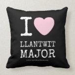 i [Love heart]  llantwit major i [Love heart]  llantwit major Throw Pillows