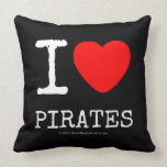 i [Love heart]  pirates i [Love heart]  pirates Throw Pillows