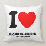 i [Love heart]  blokkeer-friezen. i [Love heart]  blokkeer-friezen. Throw Pillows