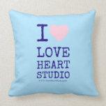 i [Love heart]  love heart studio i [Love heart]  love heart studio Throw Pillows