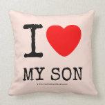 i [Love heart]  my son i [Love heart]  my son Throw Pillows