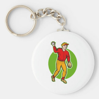 throw the baseball keychain