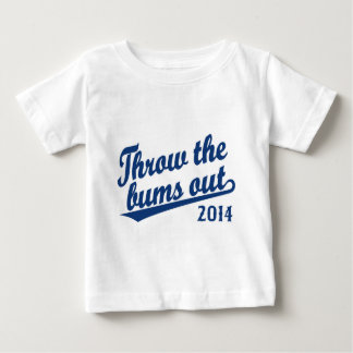 Throw the bums out 2014 blue baby T-Shirt