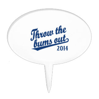 Throw the bums out 2014 blue cake toppers
