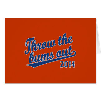 Throw the bums out 2014 blue card